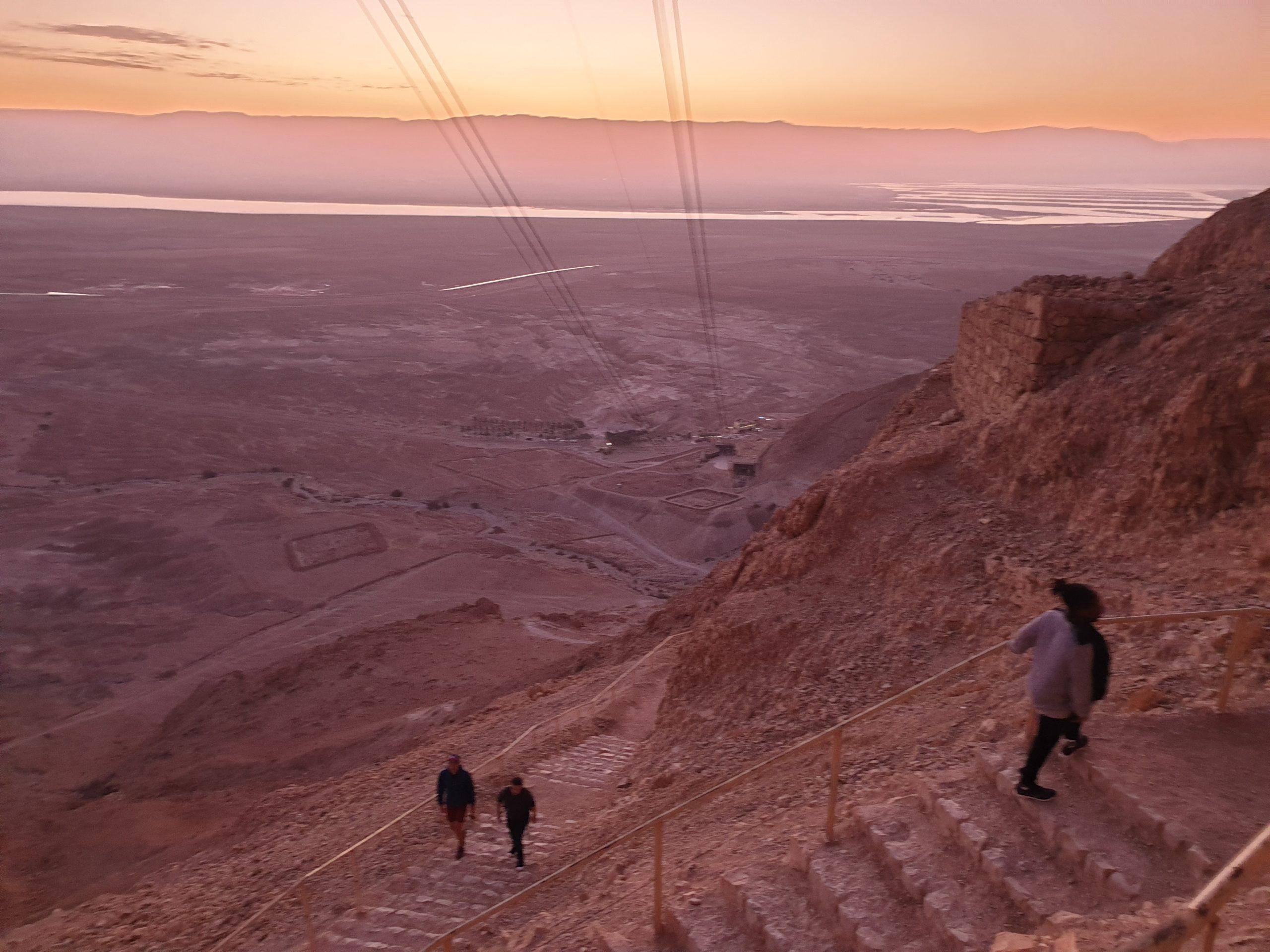 Der Aufstieg zur Festung Masada