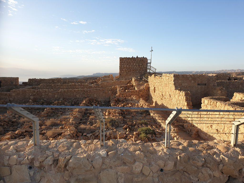 Die Überreste von Masada