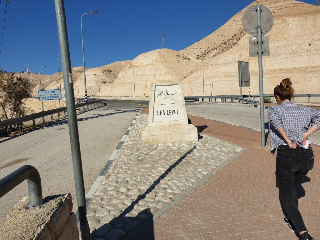 Höhe Meeresspiegel - Auf dem Weg zum Toten Meer